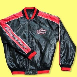 Vintage Men Chevrolet Racing Jacket Steve & Barry